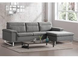 canapé en tissu gris canapé d angle design en tissu gris pied luge métal sulino