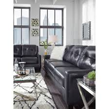 Leather Sofa Sleeper Queen Contemporary Leather Match Queen Sofa Sleeper By Signature Design