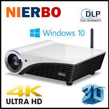 home theater 4k projector nierbo 3d 4k projector windows 10 1080p smart media player