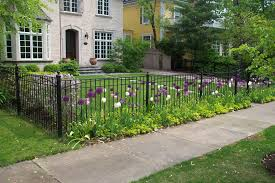 charming wrought iron fence for garden and landscape design home