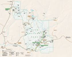 map of zion national park zion national park official map zion national park mappery