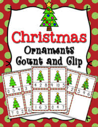 tree ornaments count and clip cards numbers 0 10 by pink