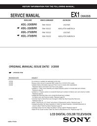 manual de serviço televisor sony modelos kdl 32xbr6 e kdl 37xbr6