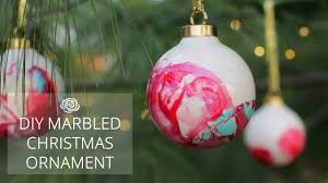 diy marbled christmas ornaments make collaboration youtube