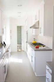 Small Galley Kitchen With Island Kitchen Cabinets Off White Cabinets Dark Granite Small Galley