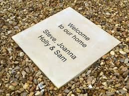 personalised paving cast garden ornaments