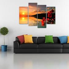 living room canvas europe style for framed living room canvas art prints sunset flower