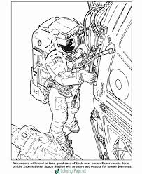 space station coloring pages astronauts