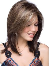 shoulder length layered longer in front hairstyle medium length layers with side sweep bangs hair pinterest
