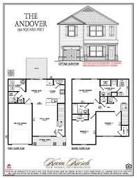 Builder Floor Plans by The Andover Floor Plans Kevin Kirsch Homes