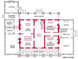 Floor Plan Image Room By Room Mansion Of Andrew Jackson The Hermitage