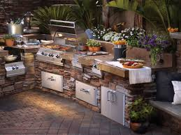 outdoor kitchen ideas on a budget rectangular white ceramic sink
