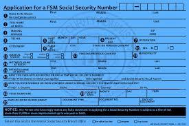 forms u2013 fsm social security administration