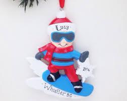 snowboard ornament etsy