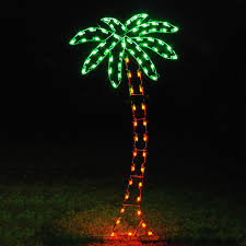 palm christmas tree christmas lights decoration