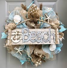 seashell wreath burlap deco mesh wreath with sea shells seashell wreath