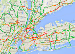 traffic map traffic map of york city at peak congestion 5 30 pm on a