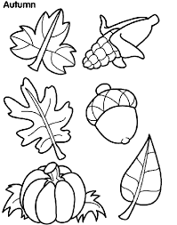 Coloring Pages Autumn autumn leaves coloring page crayola