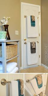 life hacks for living large in small spaces towel rod tiny