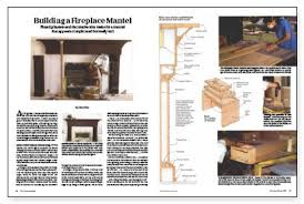 Make A Fireplace Mantel by Building A Fireplace Mantel Fine Homebuilding