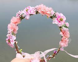 hair wreath aliexpress buy pink colorful fabric wreath flower halo