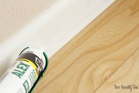 What Happens To Laminate Flooring When It Gets Wet Caulking U0026 Painting Baseboards