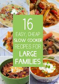 16 easy cheap cooker recipes for large families