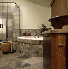 slate tile bathroom bathroom contemporary with bath bronze