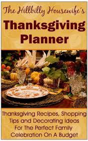 the hillbilly s thanksgiving planner thanksgiving