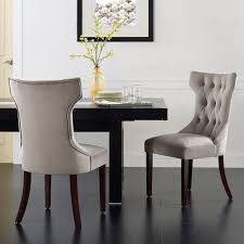 Black And Cream Dining Room - dining room wingback dining chair upholstered dining room chairs