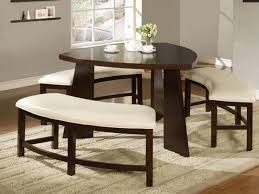 Kitchen Impressive Exellent Table Sets With Benches Dining Room - Amazing round white dining room table property