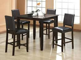 Black Dining Room Set With Bench High Dining Chairs Counter Height Dining Room Set With Black