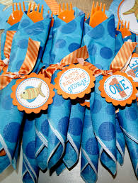 kami buchanan custom designs blue and orange under the sea party