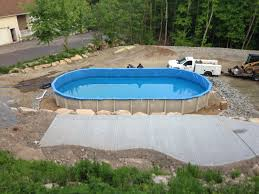 Deep Backyard Pool by Our Work Rhode Island Connecticut Above Ground Pool Sales