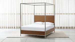 Walnut Bed Frame Walnut With Stainless Steel Frame Canopy Bed In Beds
