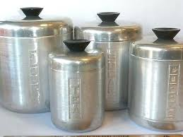 vintage metal kitchen canisters metal kitchen canister set are vintage metal canister sets