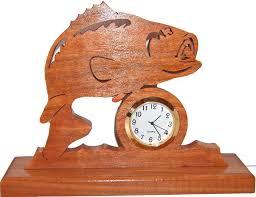 bass clock fisherman gift wood clock fish decor fishing zoom