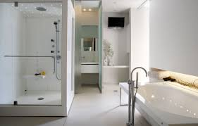 Bathroom Bathroom Shower Ideas Mixed With Cream Floor Tile And