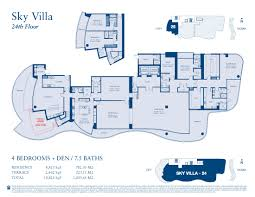 Italian Villa Floor Plans Chateau Beach Residences Sunny Isles