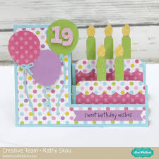 side step card birthday cake lori whitlock