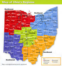 Map Of Ohio by Map Showing Ohio Regions Ohio Stock Photography Columbus