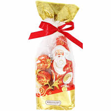 riegelein milk chocolate santa ornaments bag 4 4 oz 125g