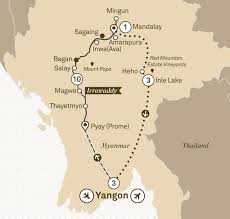 Irrawaddy River Map Mystical Myanmar River Cruises Asia