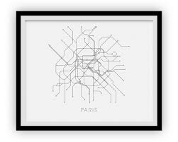 Paris Subway Paris Subway Map Print Paris Metro Map Poster U2013 Ilikemaps