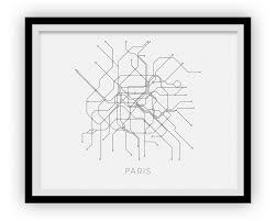 Aris Metro Map by Paris Subway Map Print Paris Metro Map Poster U2013 Ilikemaps