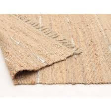 Round Natural Rug by Saville Jute And Leather Rug Natural Rugs Free Shipping Australia