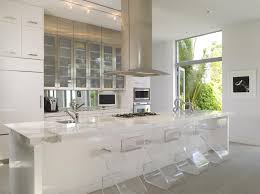 modern luxury kitchen designs bar stools furniture transparent glass bar stools and white