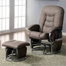 Rocking Recliner Chair For Nursery Stylish Rocking Chair With Ottoman House Plan And Ottoman