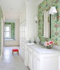 Wallpaper For Bathrooms Ideas by White Bathroom Wallpaper Home Design Ideas