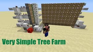 how to build a simple cheap semi auto tree farm in minecraft